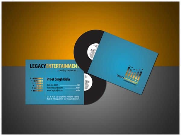 50 dj music business cards designs for Music business card design