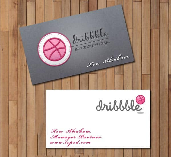 Dribbble business card