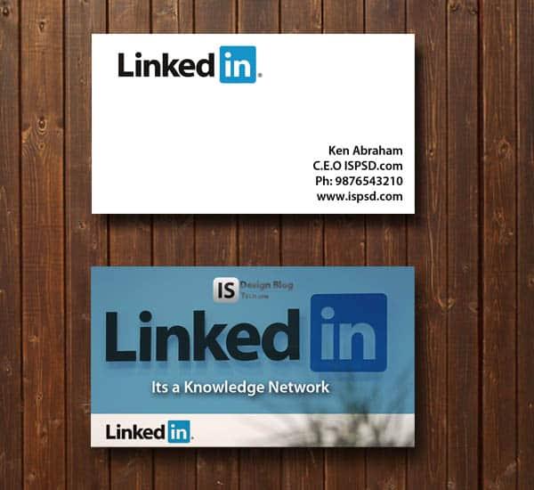 LinkedIn business card