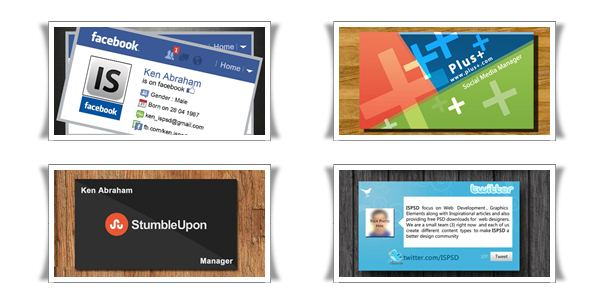 Social Media Business Cards