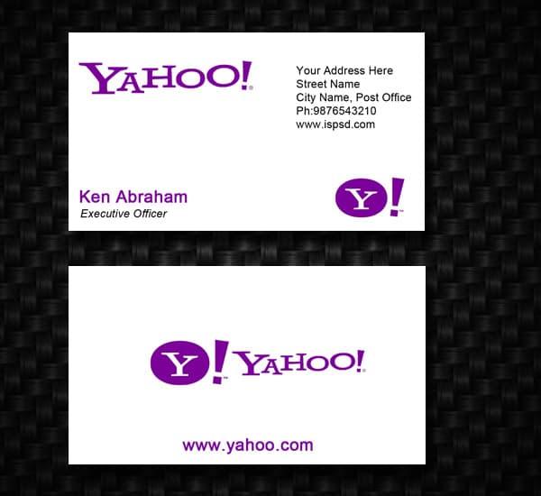 Yahoo business card