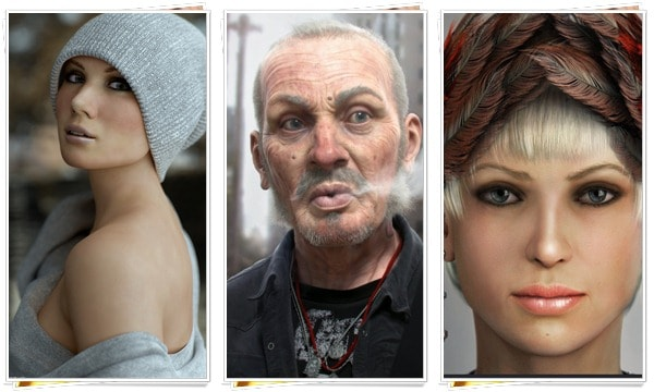 amazing 3d portraits