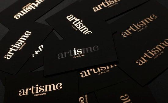 golden-black-business-card