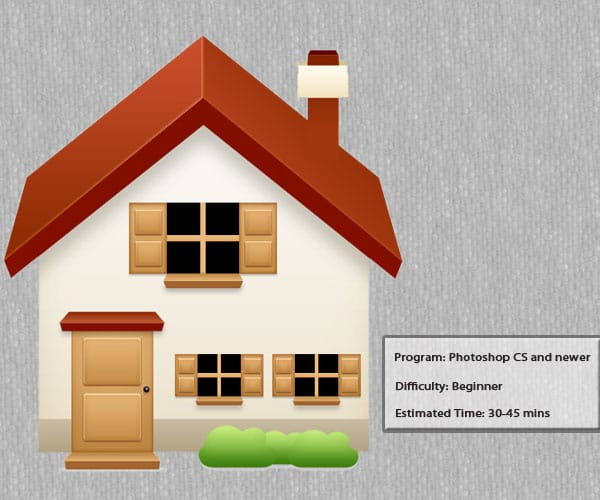 3D house icon tutorial