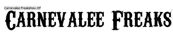 Carnevalee Freakshow Font