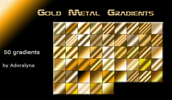 Photoshop Gold Gradients