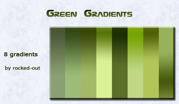 green Photoshop gradients