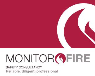 Monitor fire logo