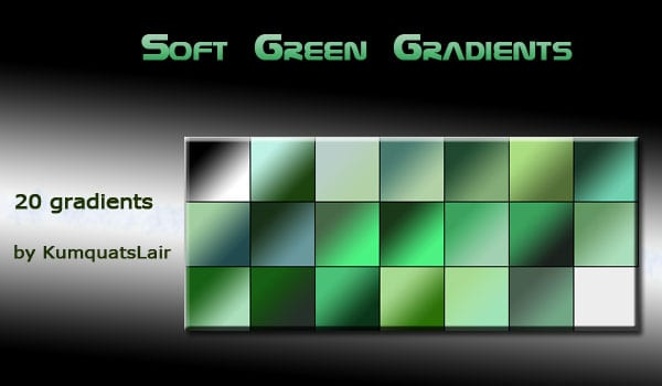 soft green Photoshop gradients