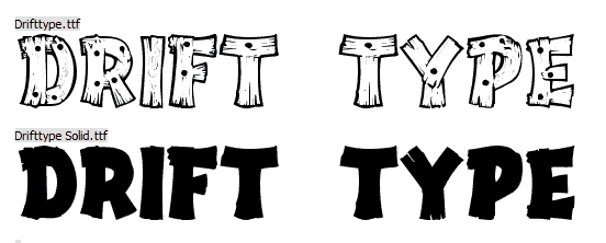Drift Type Font