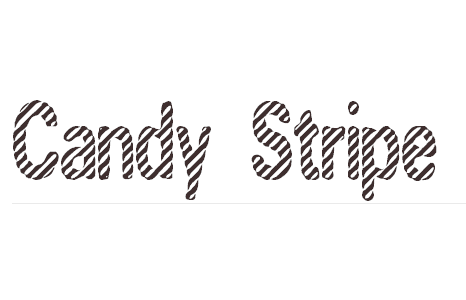 Candy Stripe font