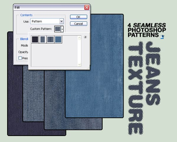 Seamless Jeans Textures for PS