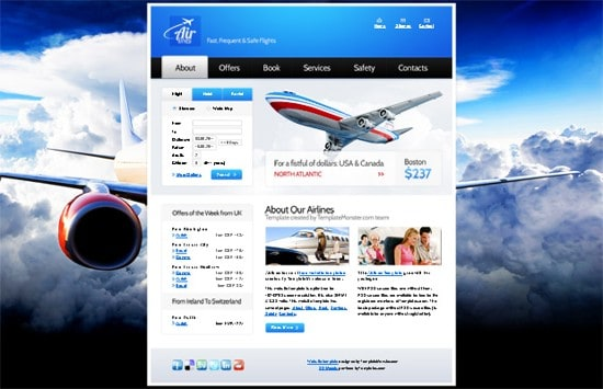 06 free-website-template-airlines