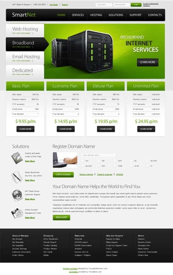 13 Hosting-Free-template