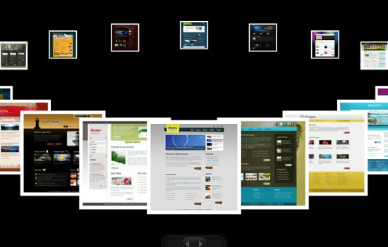 thumbnail flash web template