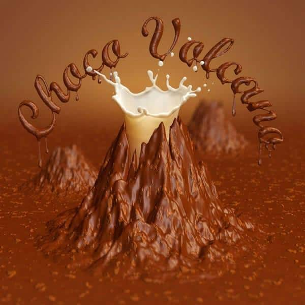 Create a Chocolate Volcano Using 3D Effects using PsC6
