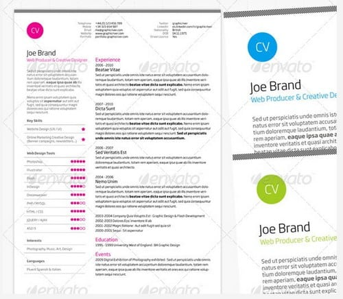 modern and professional resume template examples 11