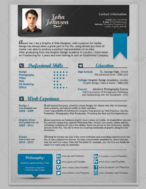 modern and professional resume template examples 9