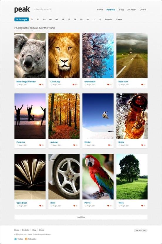 peak-portfolio-wordpress-theme