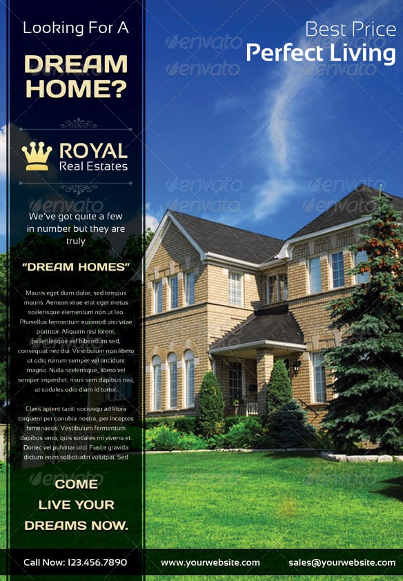 Royal Real Estate Marketing Flyer