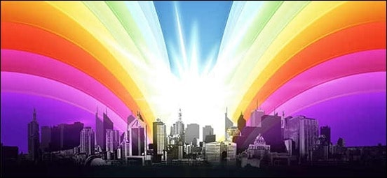 urban-city-view-with-shining-rainbow
