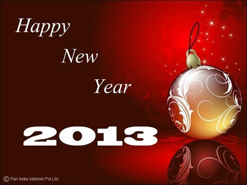 2013 new year background