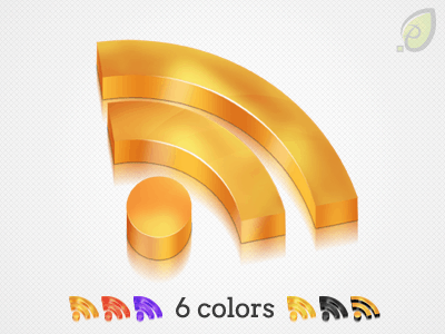 Rss icon – 3d style