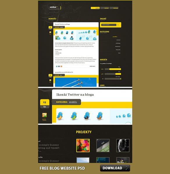 Creative Blog Website PSD