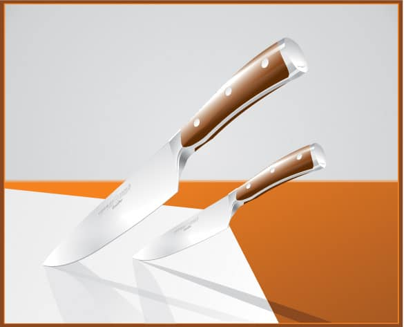 Sharp Wusthoff Knives Vector