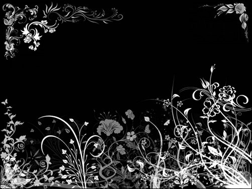 Black-Floral-black-wallpaper