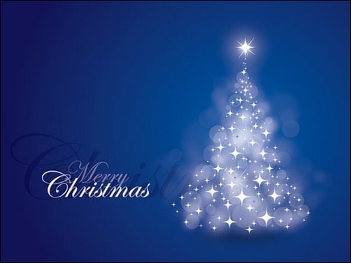 Blue-Christmas-Card-Vector-Graphic