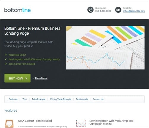Bottom-Line-landing-page-templates