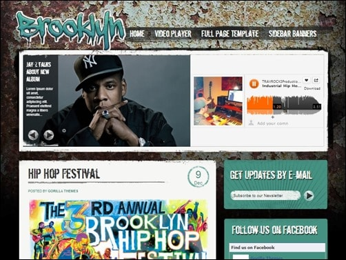 Brooklyn-wordpress-music-theme