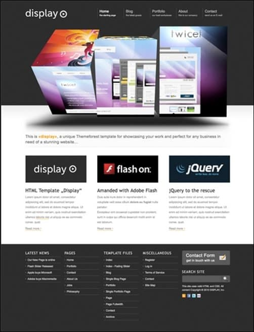 Display wordpress business themes