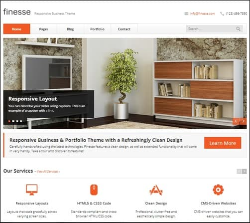Finesse-drupal-7-themes