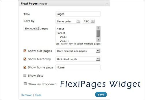 FlexiPages Widget