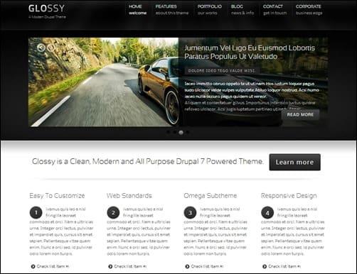 Glossy-drupal-7-responsive-theme