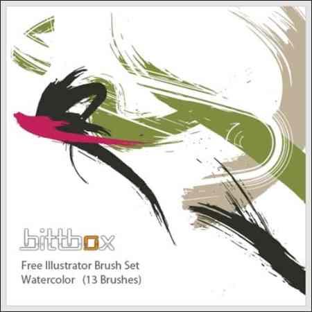 Ink-Watercolor-illustrator-brush