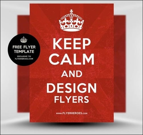 Keep-Calm-and-Carry-On flyer templates