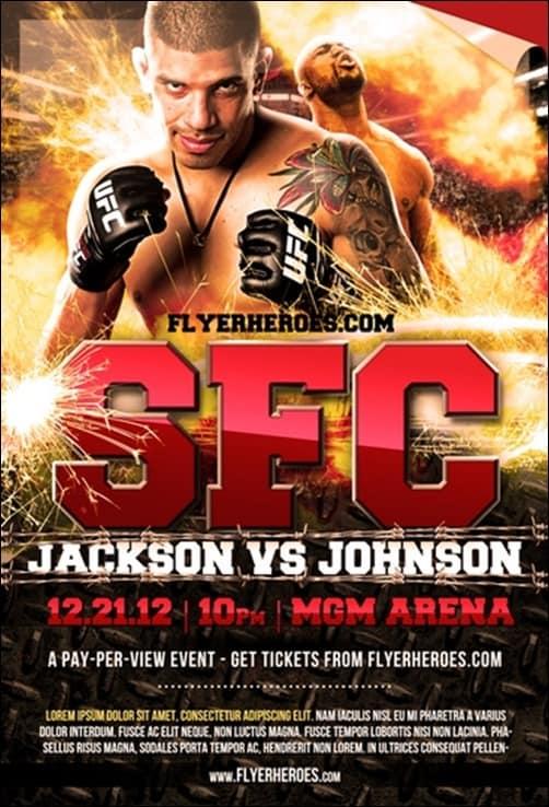 MMA-Fight-Night flyer templates