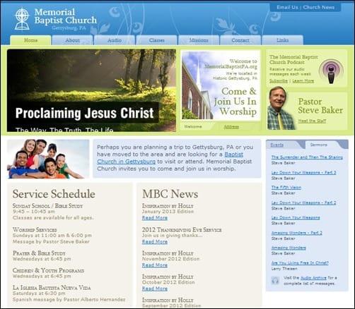 Memorial-Baptist-Church-church-websites