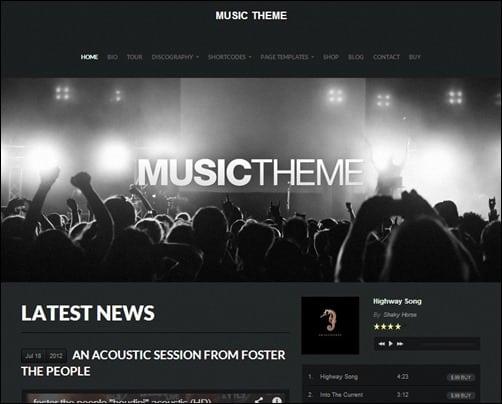 Music Theme wordpress