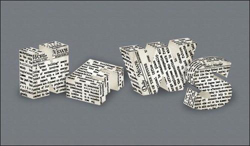 Newspaper-Text-Effect