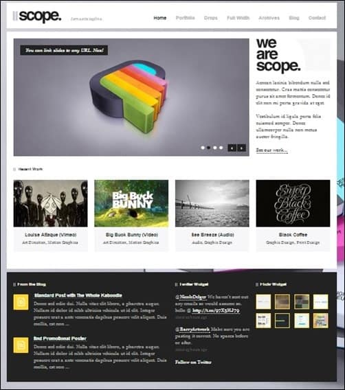 Scope wordpress business themes