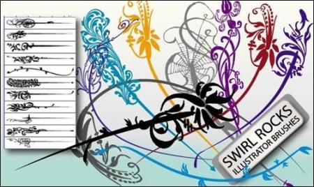 Swirl-Rocks-Brushes-illustrator-brush