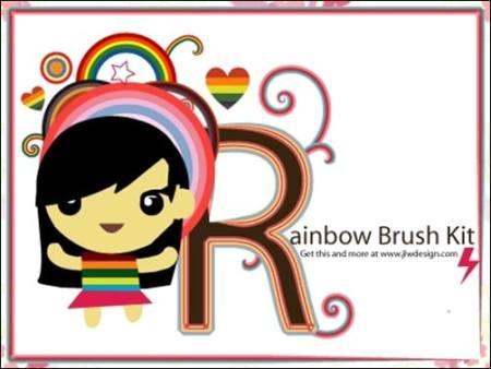 The-Rainbow-Brush-Kit-illustrator-brush