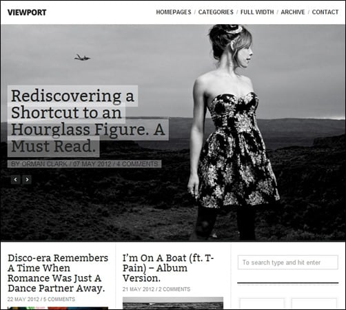 Viewport simple wordpress themes