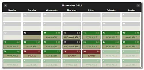 ajax-booking-calendar