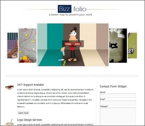bizzfolio WordPress Photography Themes