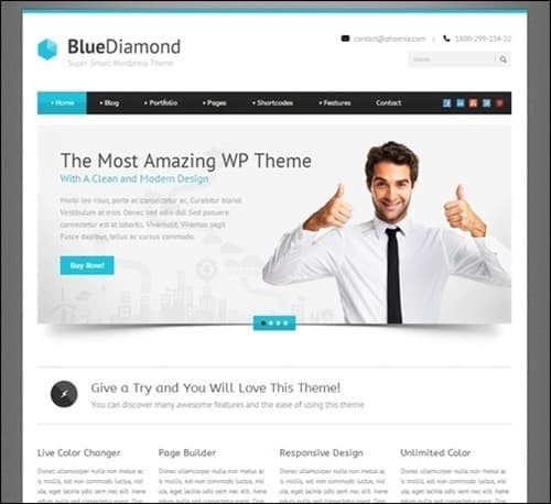 blue-diamond responsive WordPress themes